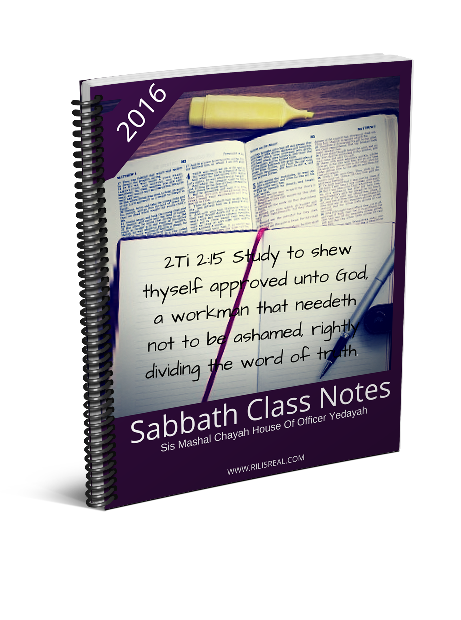 2016 Sabbath Class Notes
