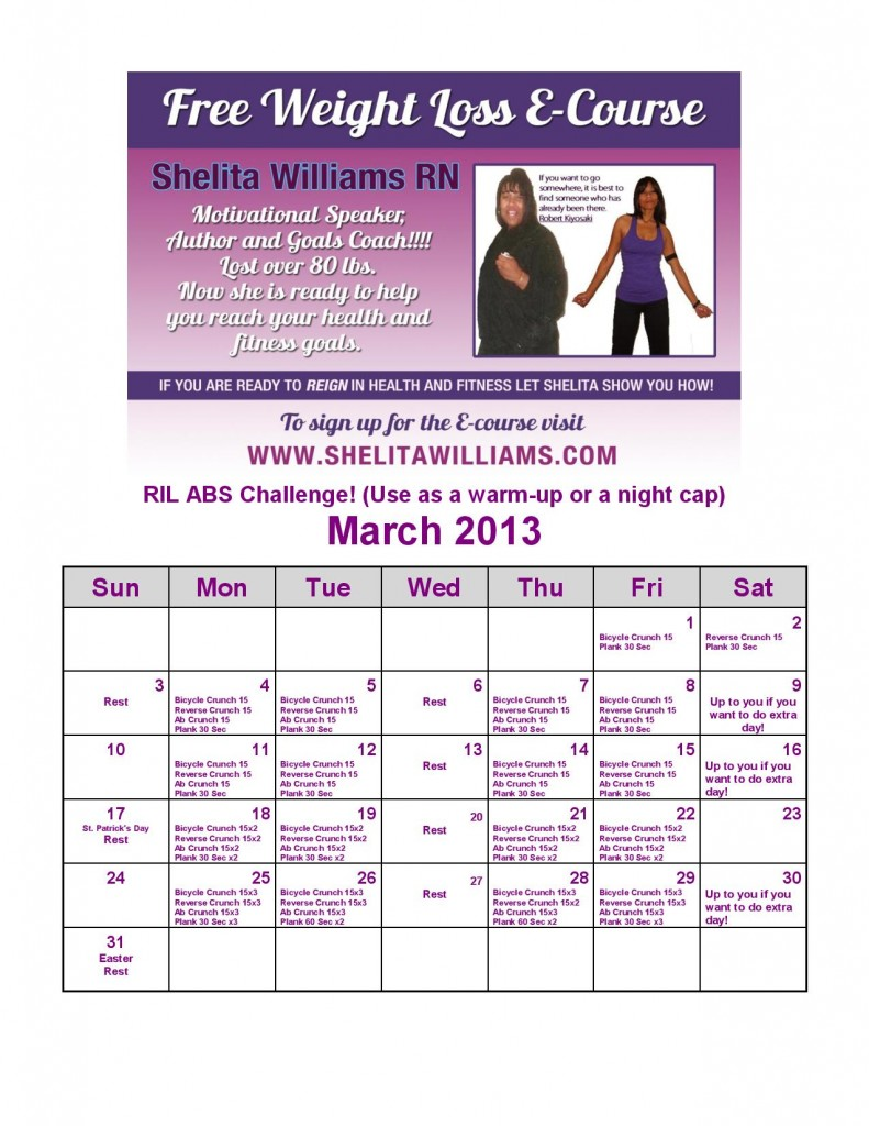 RIL Monthly Challenge Mar Abs--