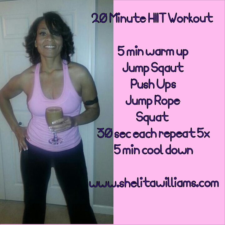 20 Minute HITT Cardio Workout! No Equptment Needed!