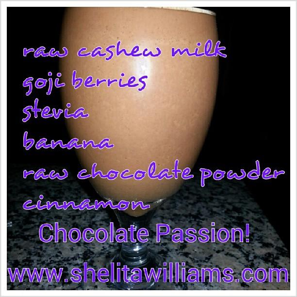 Healthy Chocolate Shake | Raw Cacao and Goji Berries