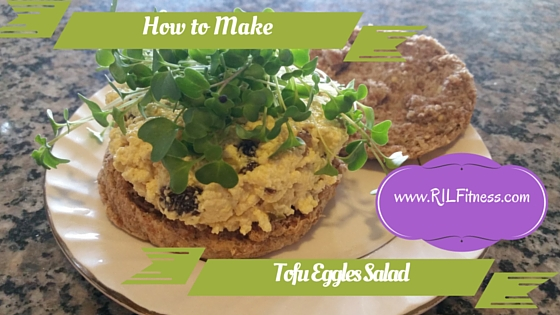 How to Make Tofu Eggless Salad!