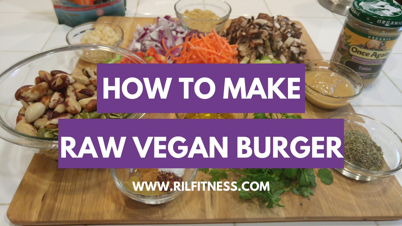 How to Make a Raw Vegan Burger!