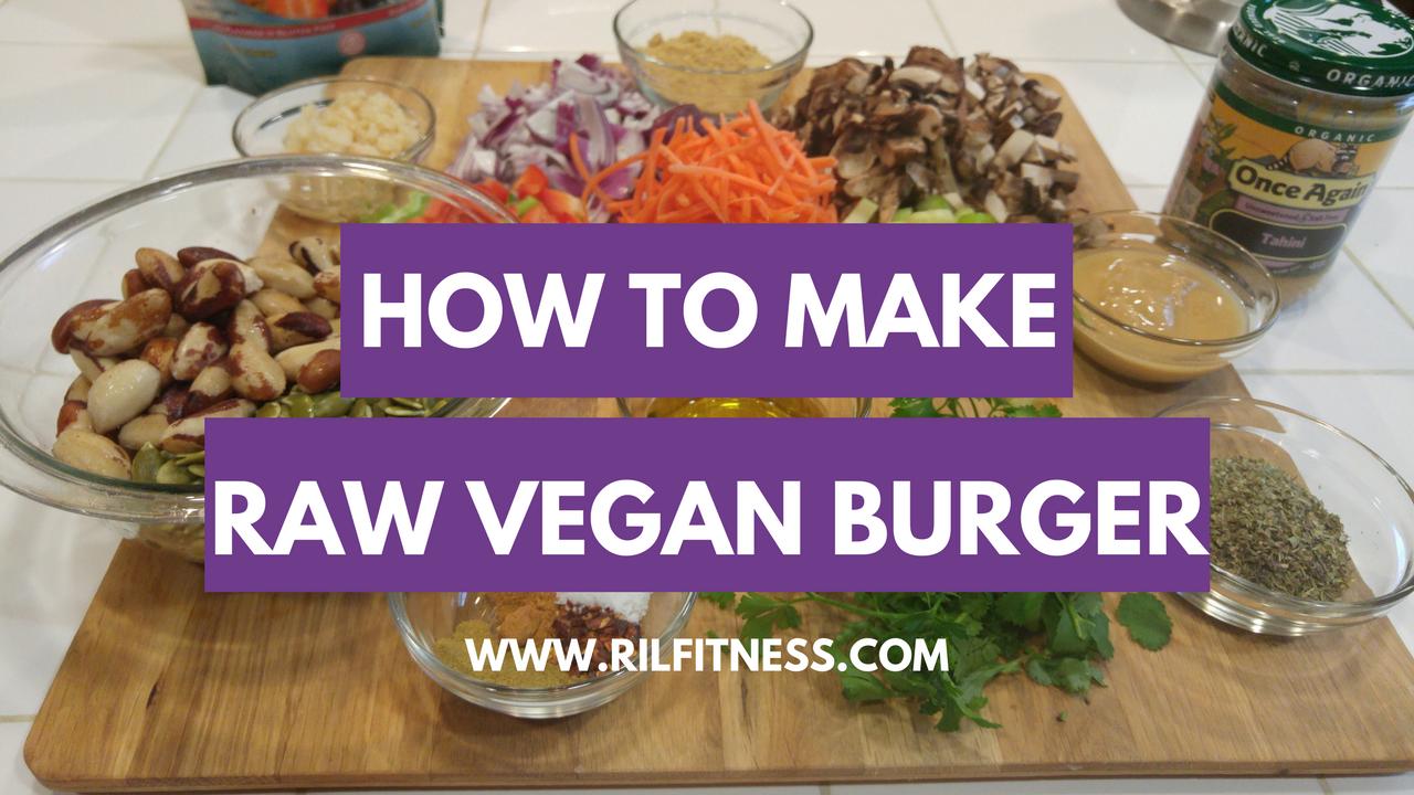How to Make a Raw Vegan Burger!