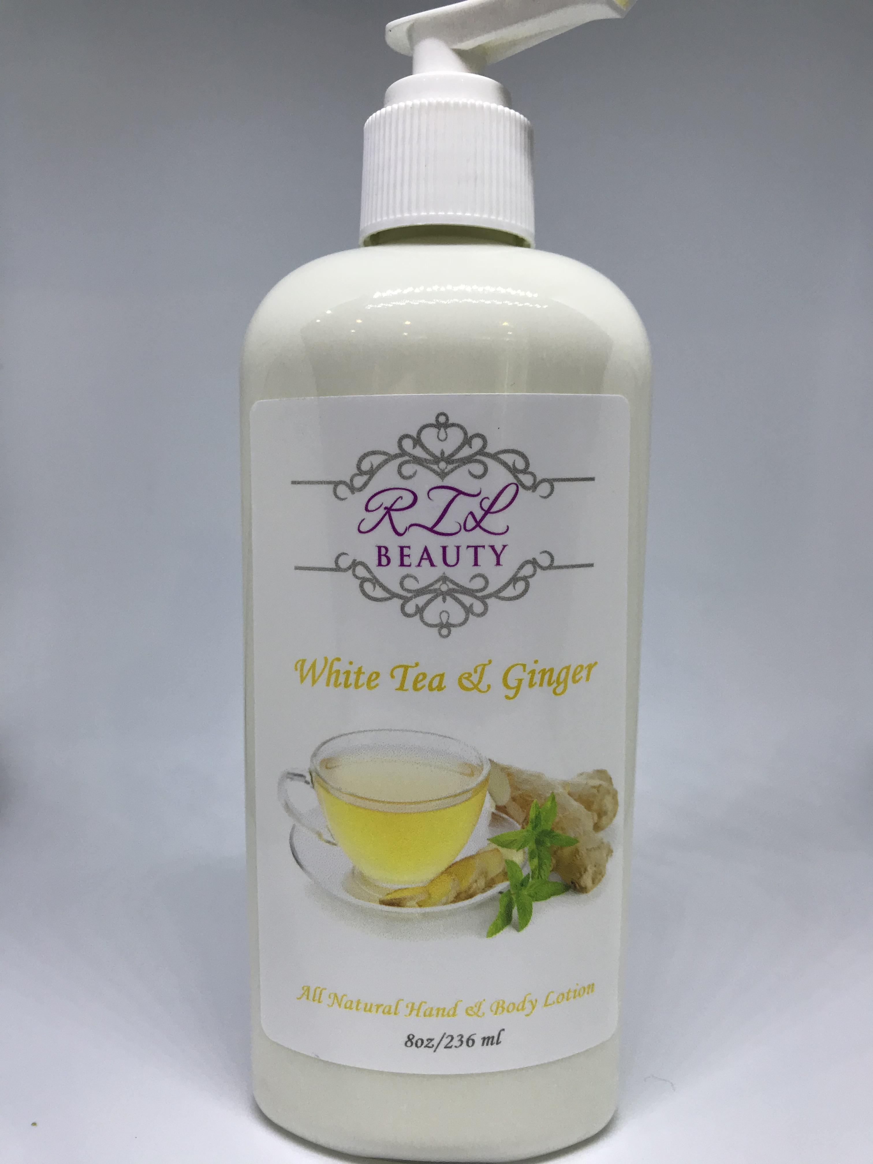 White Tea & Ginger 8oz. Lotion