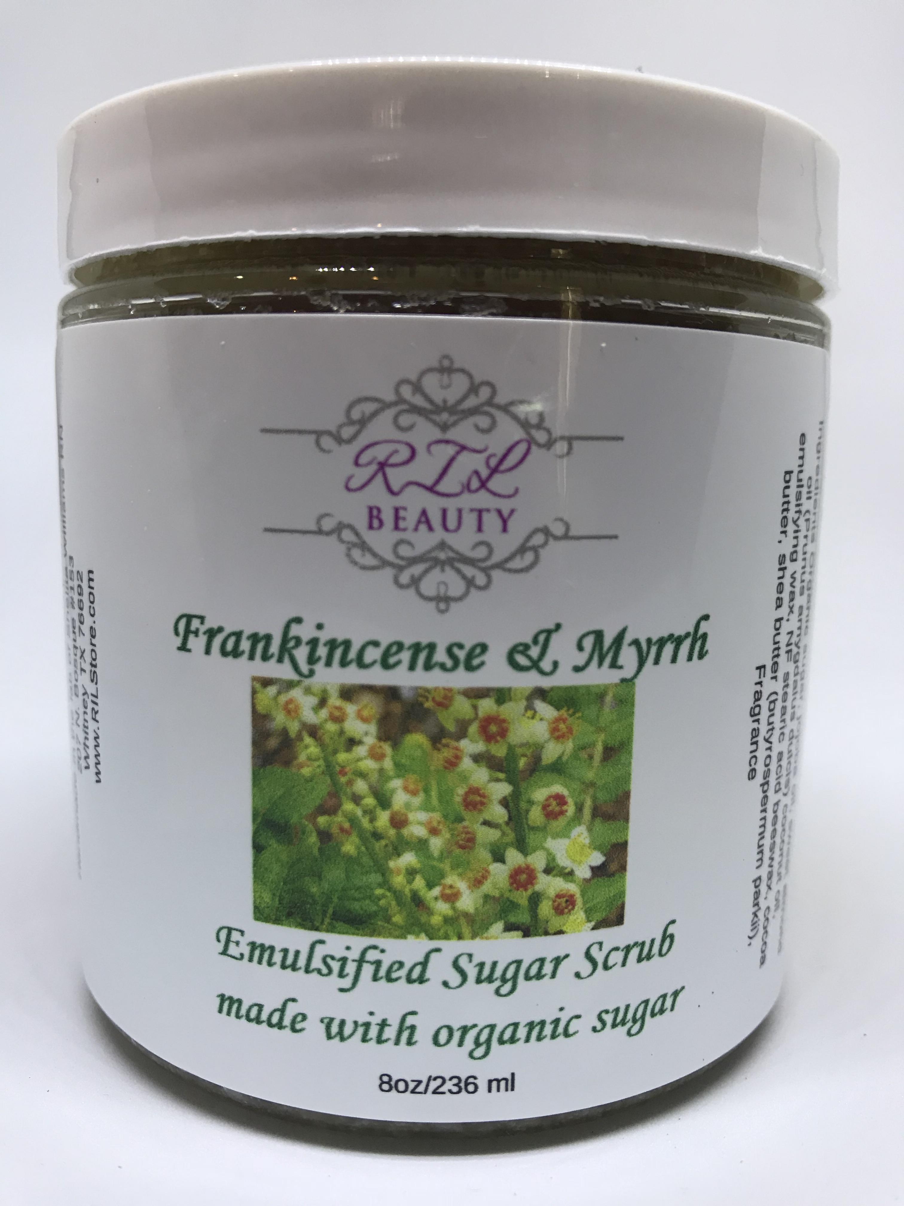 Frankincense & Myrrh Emulsified Sugar Scrub 8 oz.