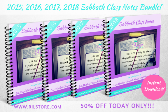 2015, 2016, 2017, 2018 Sabbath Class Notes Bundle!  (DIGITAL PRODUCT)