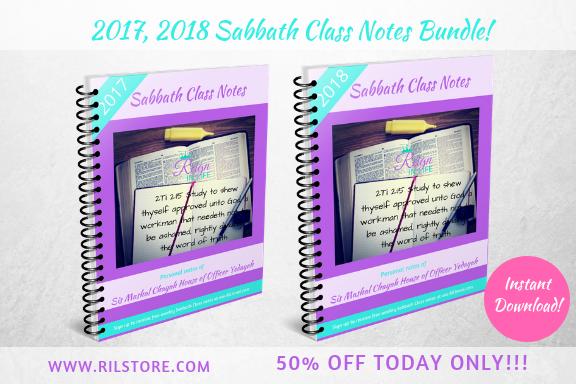 2017, 2018 Sabbath Class Notes Bundle!  (DIGITAL PRODUCT)