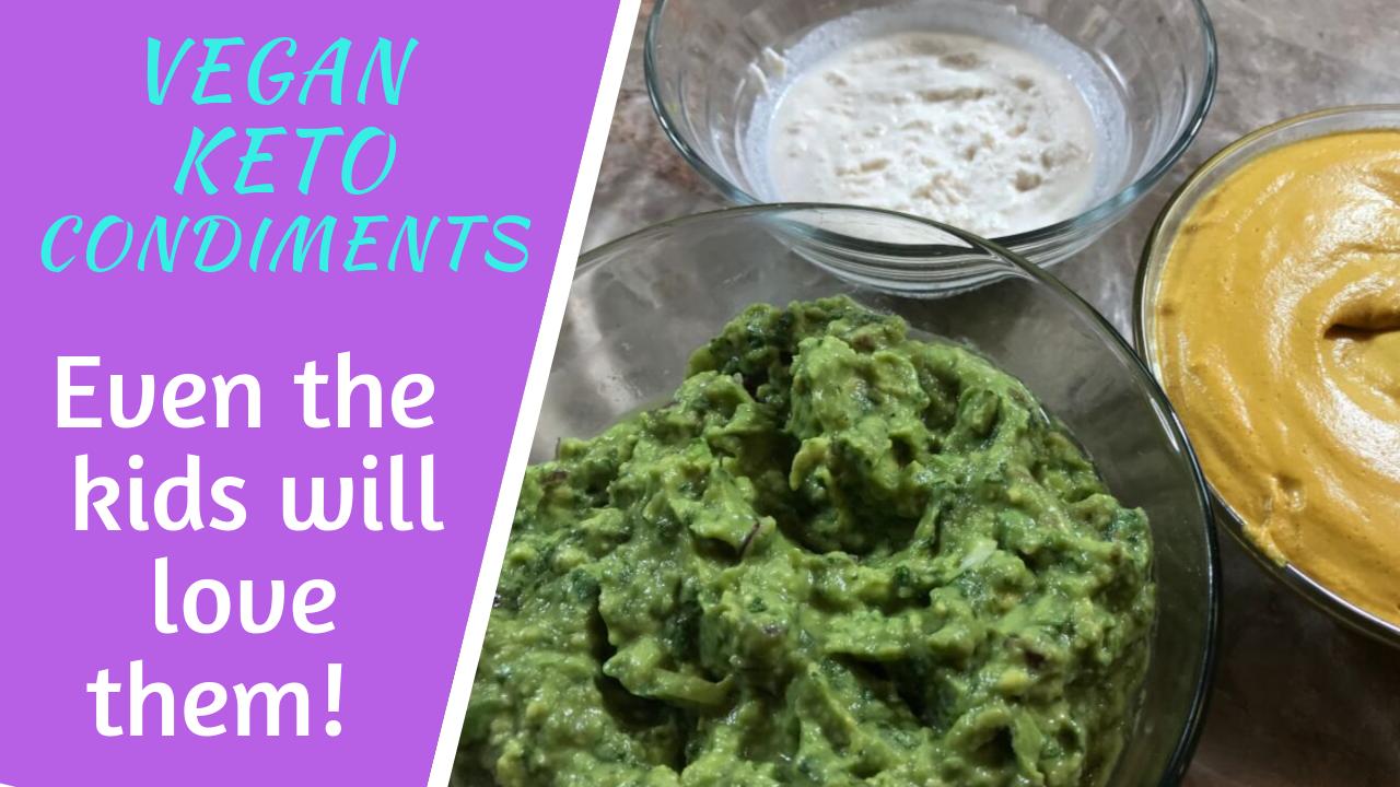 Vegan Keto Cheese, Sour Cream and Guacamole: Keto Condiments