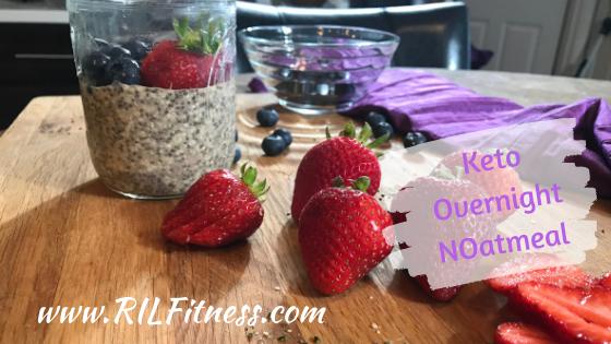 Keto overnight oatmeal | Overnight Noatmeal | Keto Vegan Breakfast