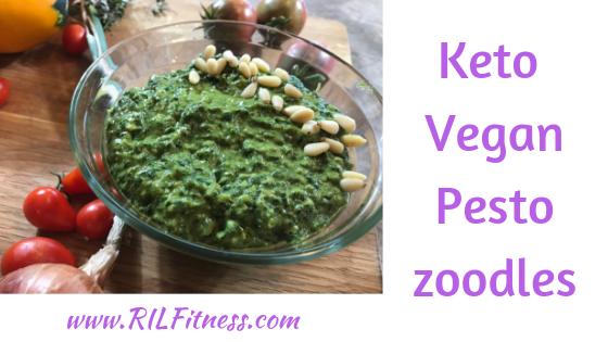 Pesto Zoodles Vegan Keto | Zucchini Noodles
