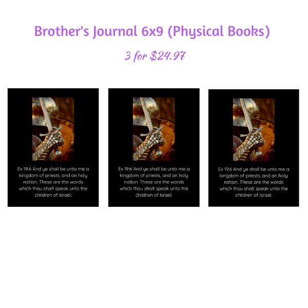 RIL Journal for Brothers 3 Pack (Physical Book) 6 x 9