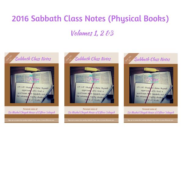 2016 Sabbath Class Notes (Physical Books)