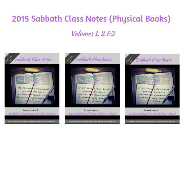 2015 Sabbath Class Notes (Physical Books)