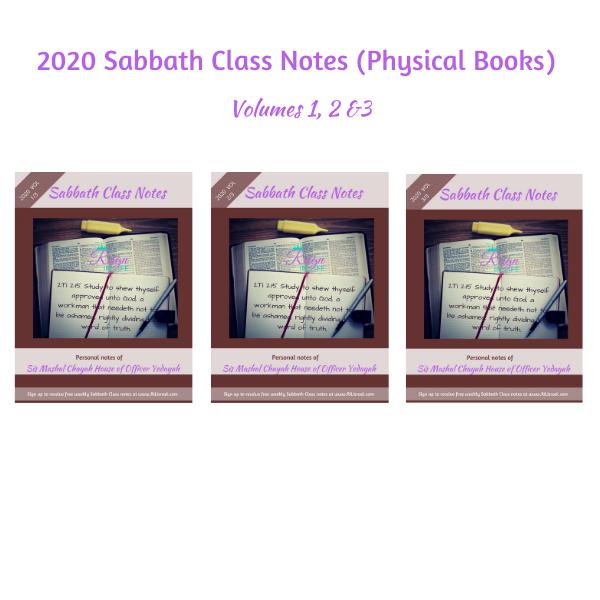 2020 Sabbath Class Notes (Physical Books)