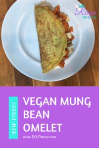 vegan mung bean omelet
